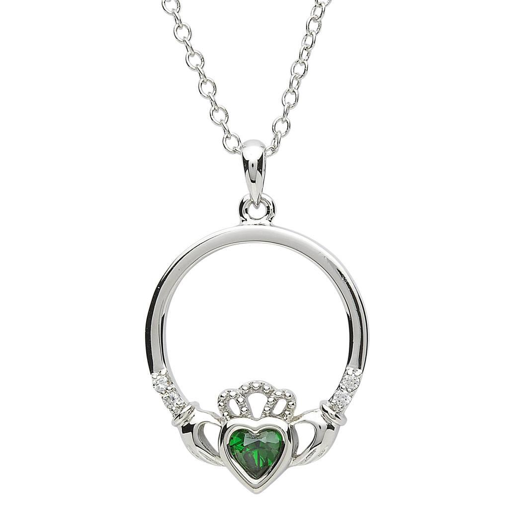 Shanore Pendant: Platinum Claddagh
