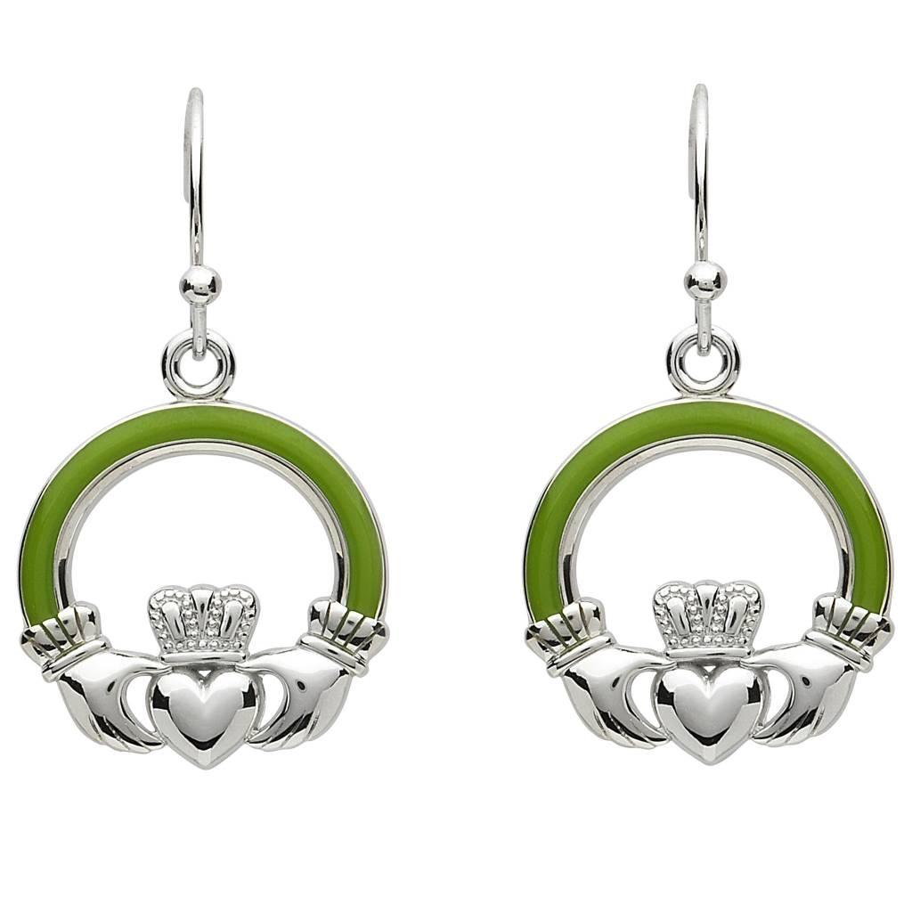 Shanore Earrings: Platinum Claddagh