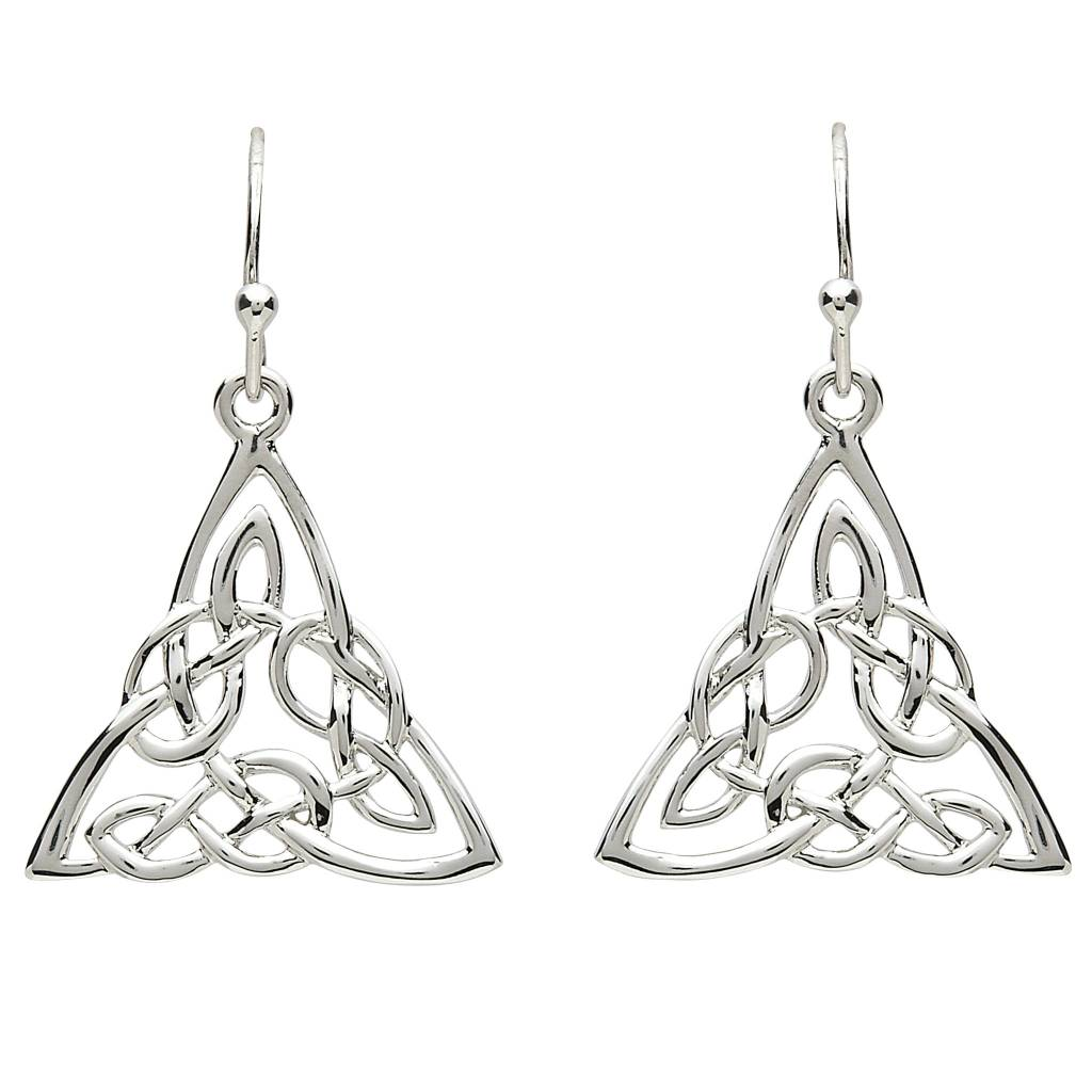 Earrings: Platinum Celtic Knot