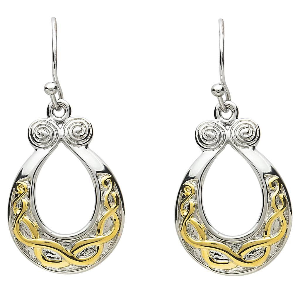 Shanore Earrings: Platinum Celtic Horseshoe