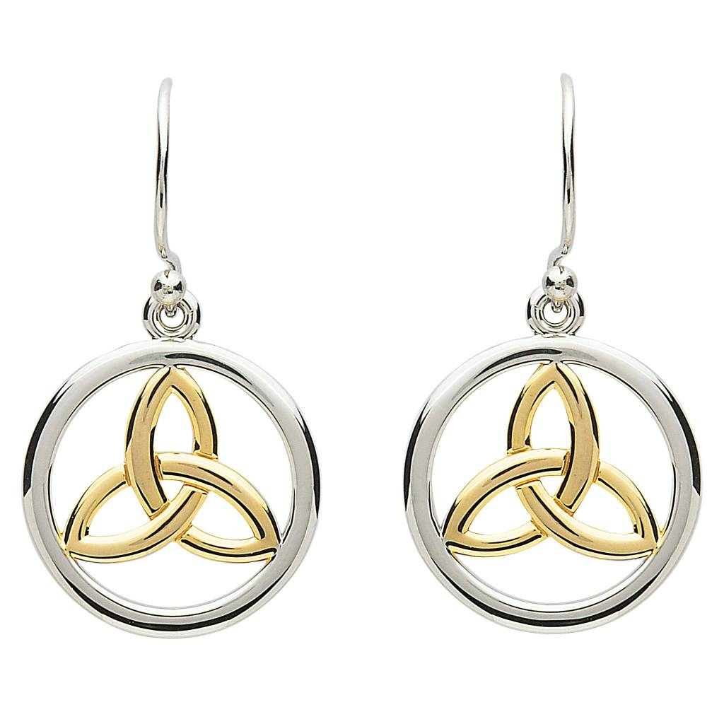 Shanore Earrings: Platinum Celtic Triquetra