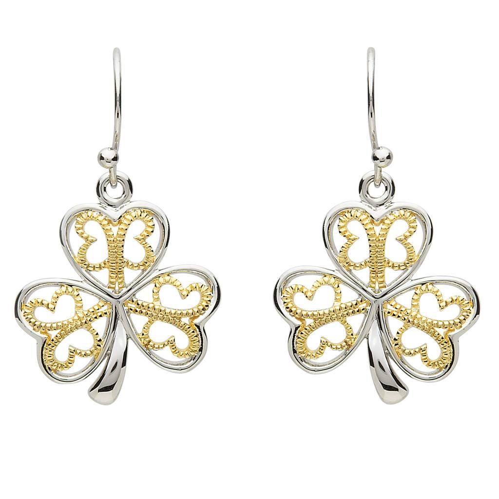Earrings: Platinum Shamrock