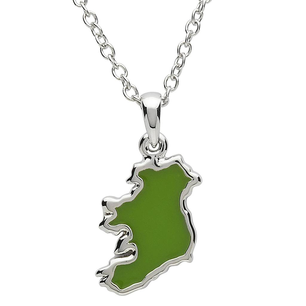 Pendant: Platinum Map of Ireland