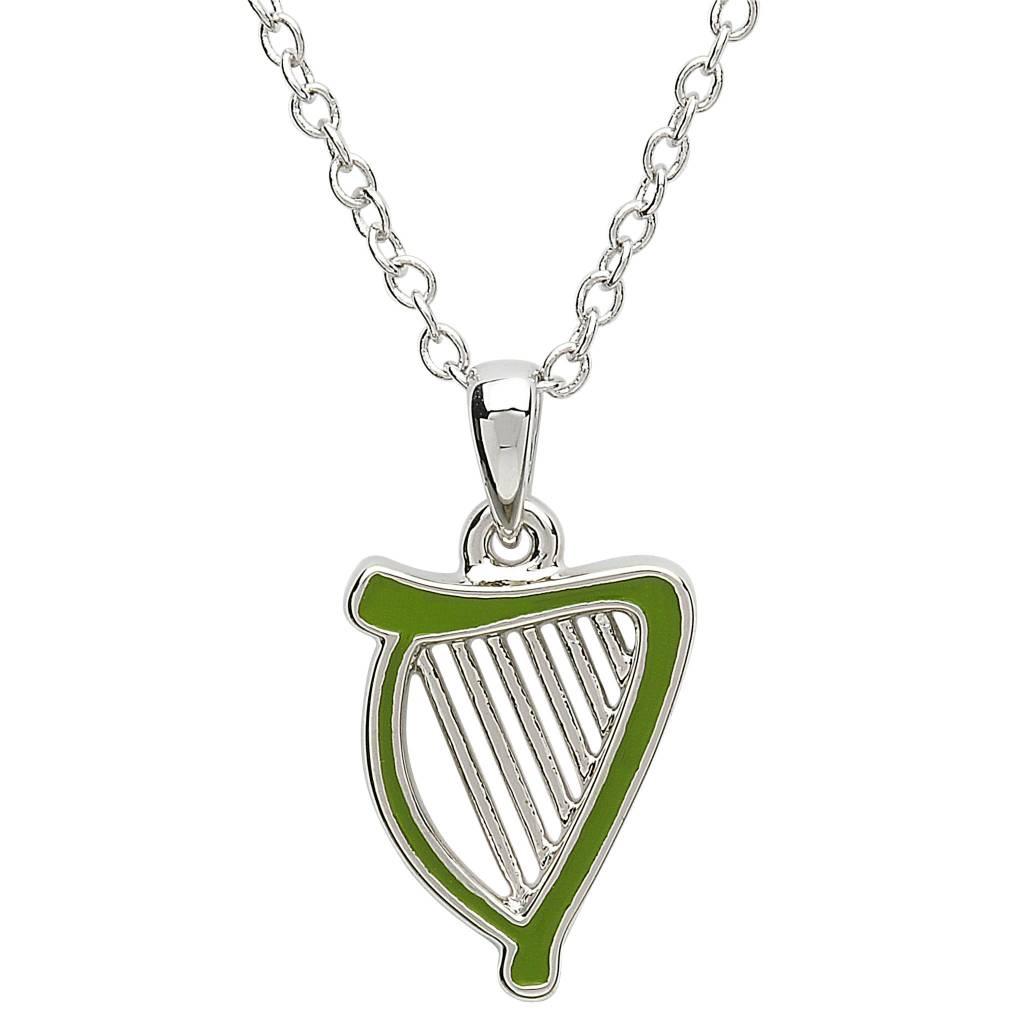 Shanore Pendant: Platinum Harp