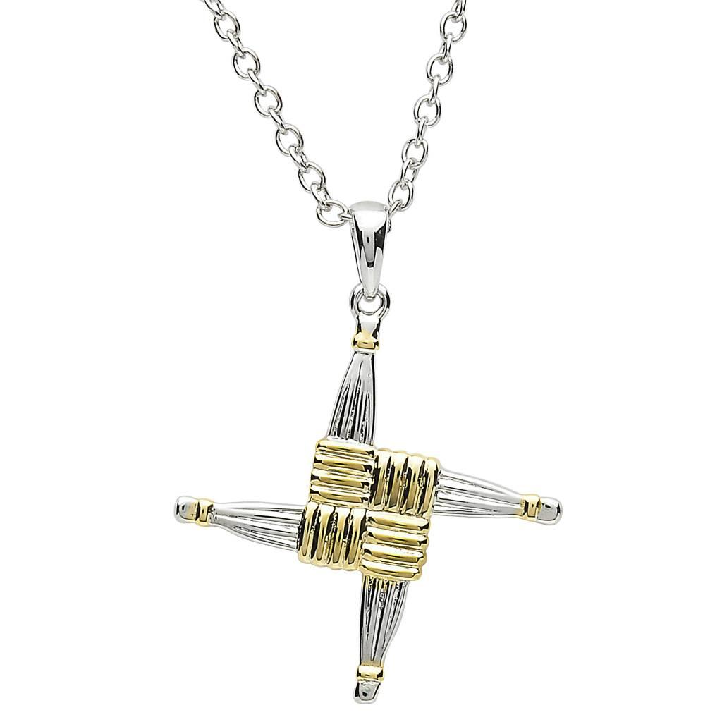 Shanore Pendant: Platinum St. Bridget's Cross