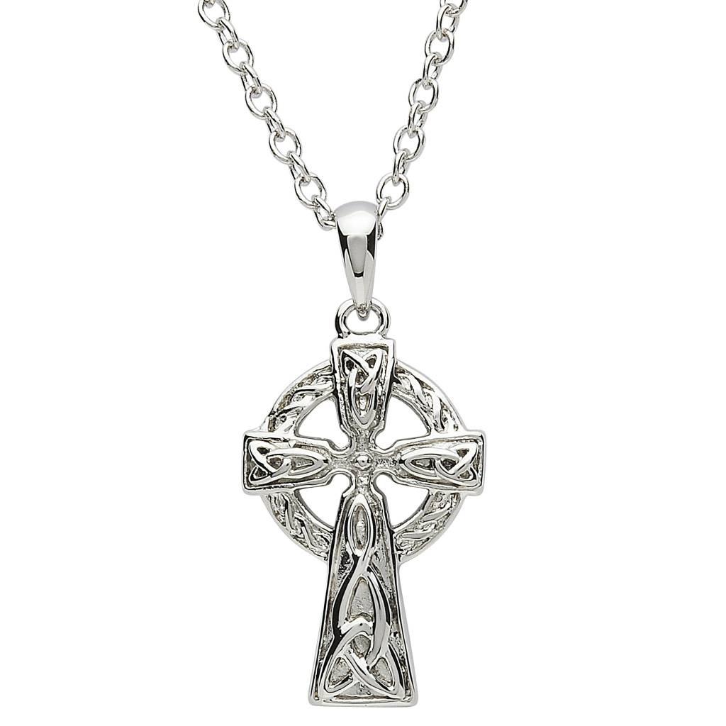 Shanore Pendant: Platinum Celtic Cross