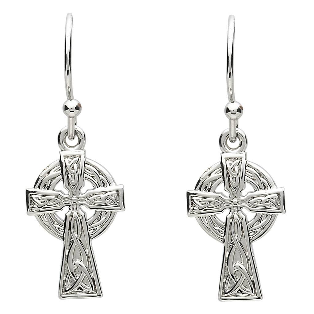 Earrings: Platinum Celtic Cross