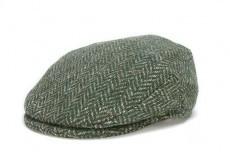 Hat: Vintage Wool Herringbone Cap, Green