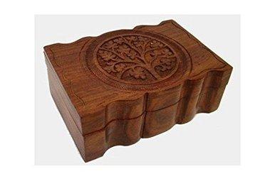 "Jewelry Box: Tree of Life, Wooden (4""x6"")"