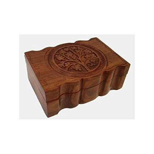 "Jewelry Box: Tree of Life, Wooden (4""x6"")"