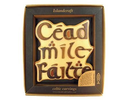 Clara Plaque: Wood Cead Mile Failte (100,000 Welcomes) Plaque