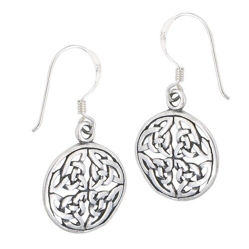 Earring: SS Circle Endless Knot