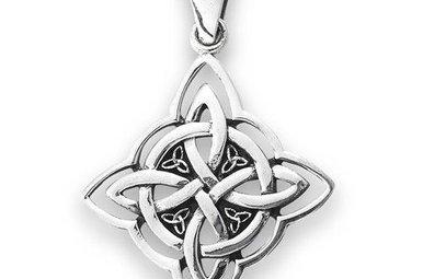 Necklace: SS Knot w/Triquetra