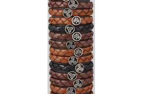 Bracelet: Leather Braid, Wide