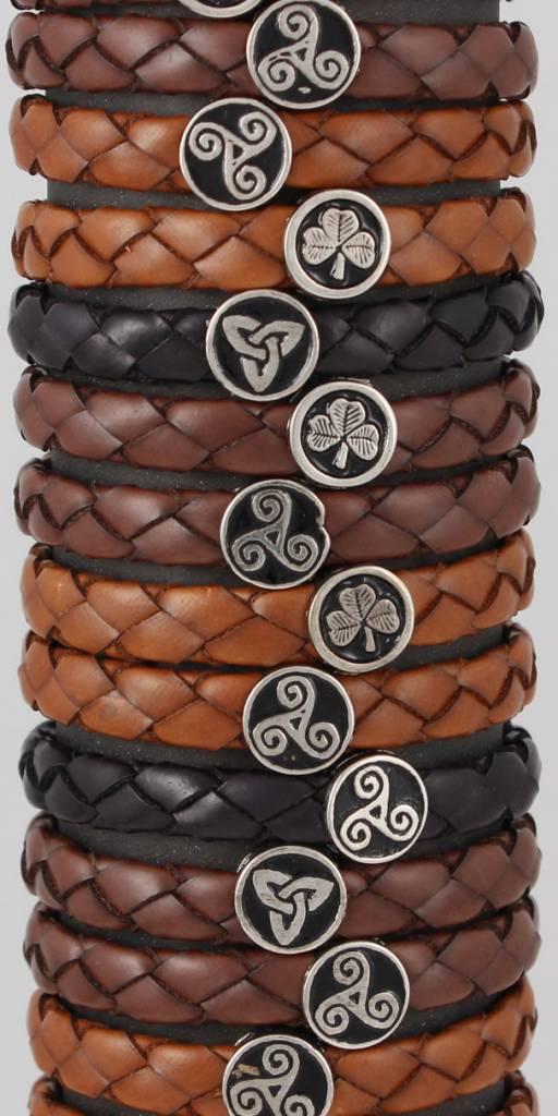 Leather Bracelet: Leather Braid, Wide