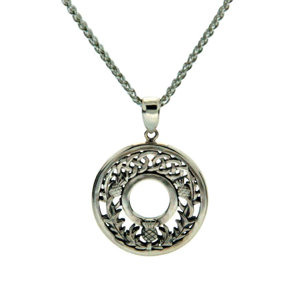 Keith Jack Pendant: Sterling Silver Thistle