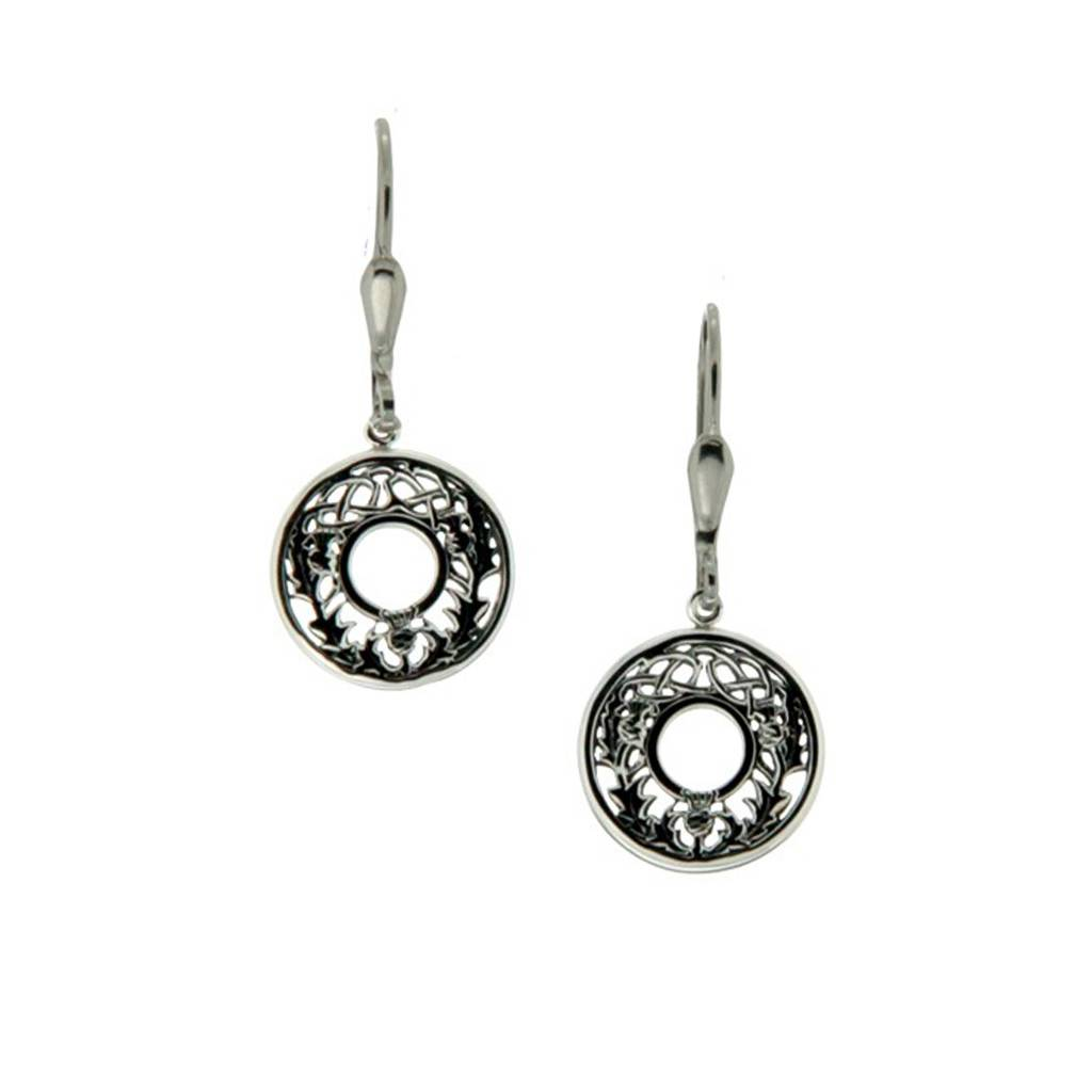 Keith Jack Earring: Sterling Silver Thistle