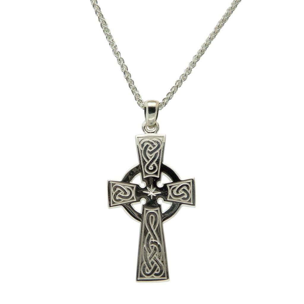 Keith Jack Pendant: Sterling Silver Celtic Cross Large