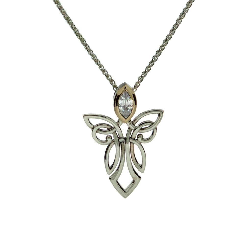 Keith Jack Pendant: Sterling Silver 10k Angel