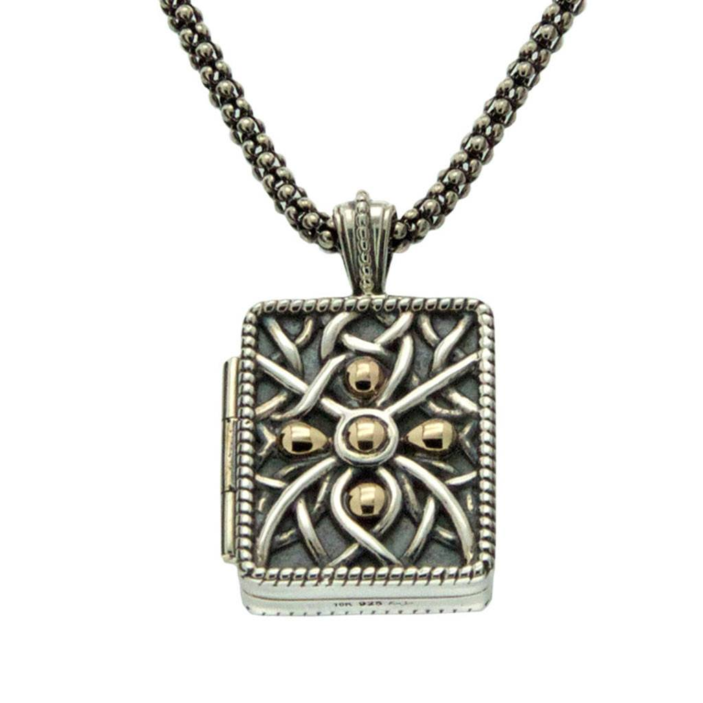 Keith Jack Pendant: Gilded Unisex Reversible Locket