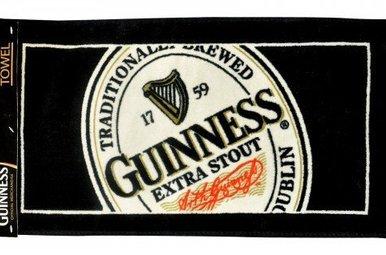 Guinness: English Label Bar Towel