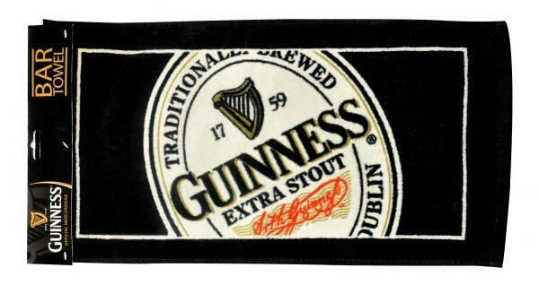 Guinness: English Label Bar Towel