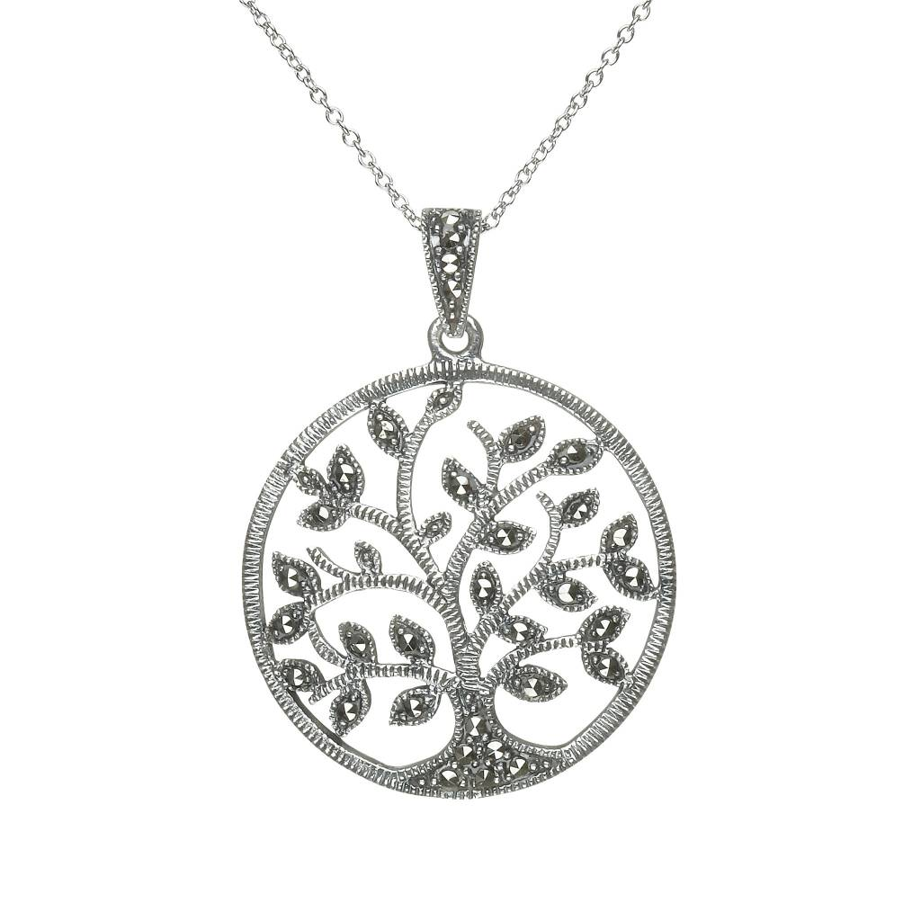 Pendant: Lg Marcasite Tree of Life