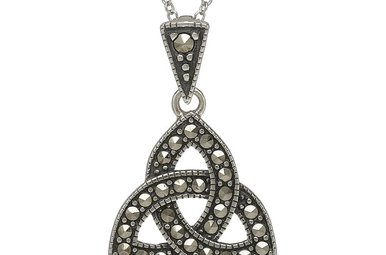 Pendant: Sterling Silver Trinity Knot Marcasite