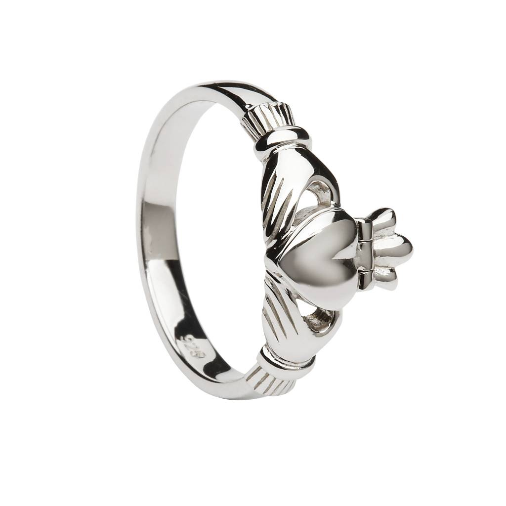 Anu Ring: SS Claddagh with 14k Hidden Heart