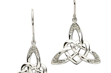 Earring: SS Celtic Heart CZ
