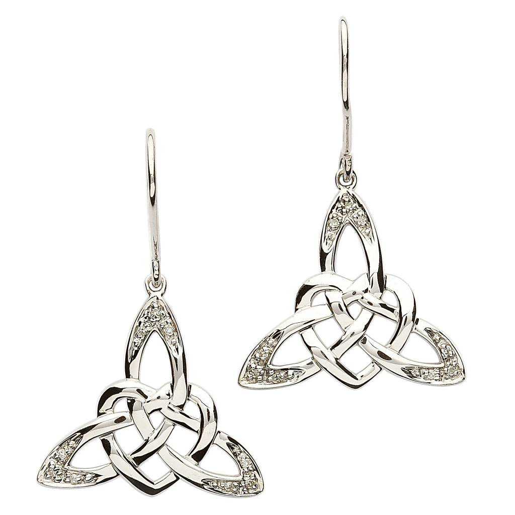 Shanore Earring: SS Celtic Heart CZ