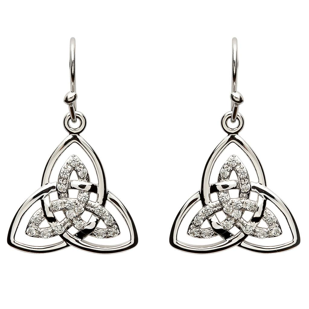 Earring: SS CZ Double Trinity