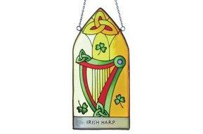 Stained Glass: Irish Harp Gothic