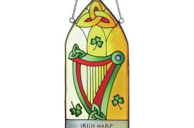 Stained Glass: Irish Harp Gothic