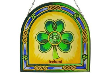 Stained Glass: Shamrock Ireland