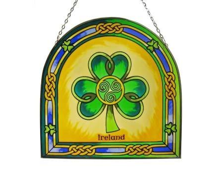 Clara Stained Glass: Shamrock Ireland