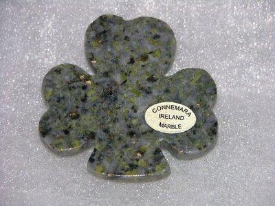 Magnet: Large Shamrock Connemara Marble