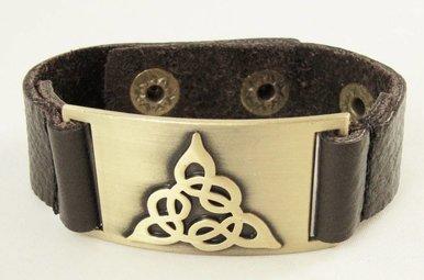 Bracelet: Trinity, Leather & Zinc Alloy