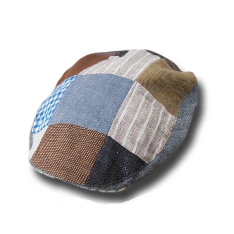 Hanna Hats Hat: Linen Tailor Cap Patch