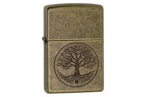 Lighter: Zippo Tree of Life, Antique Brass