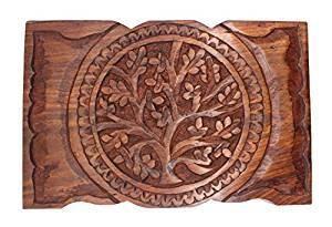 "Jewelry Box: Tree of Life, Wooden (9""x6"")"