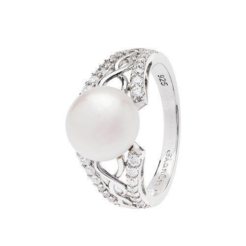 Shanore Ring: SS CZ Trin Pearl
