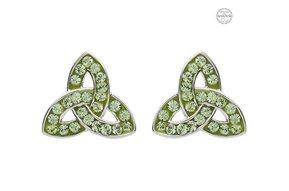 Earrings: Platinum Peridot Trinity