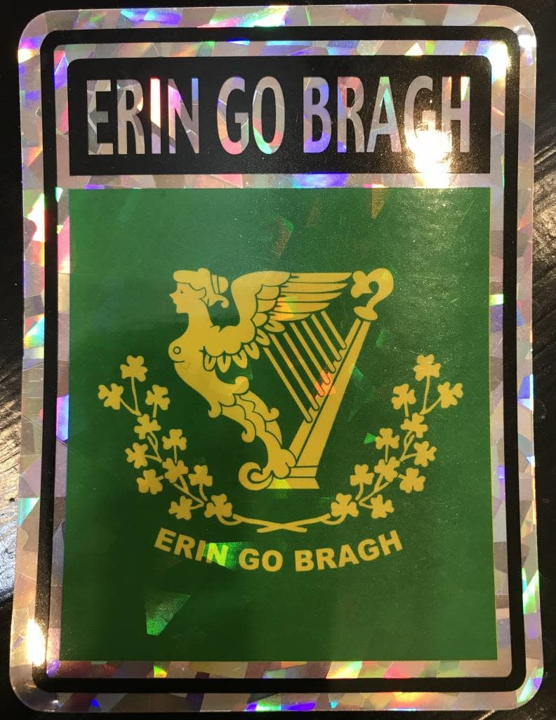 "Decal: Vinyl Reflective Erin Go Bragh 3""x4"""