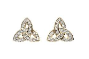 Earrings: 14k Diamond Trinity Stud .20