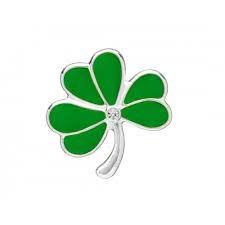 Brooch: Green Shamrock