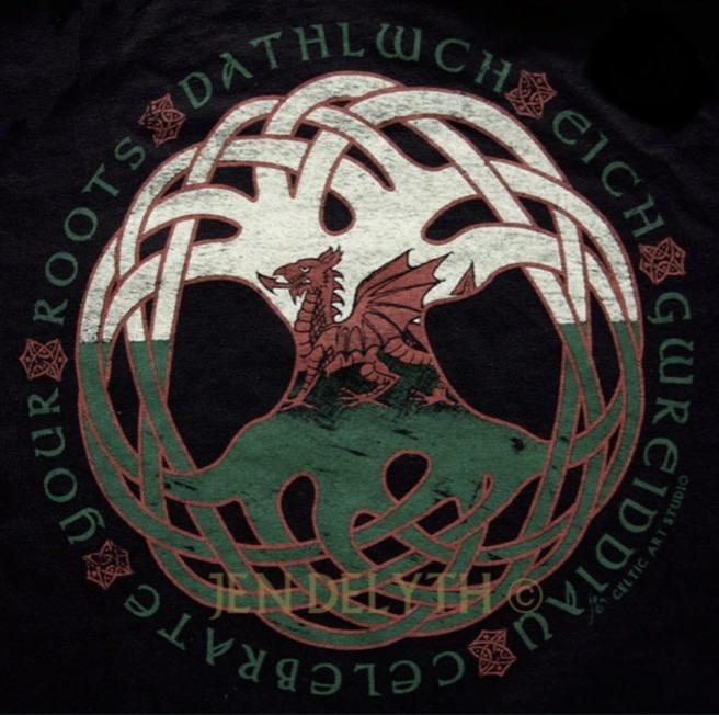 T Shirt: Welsh Dragon Roots