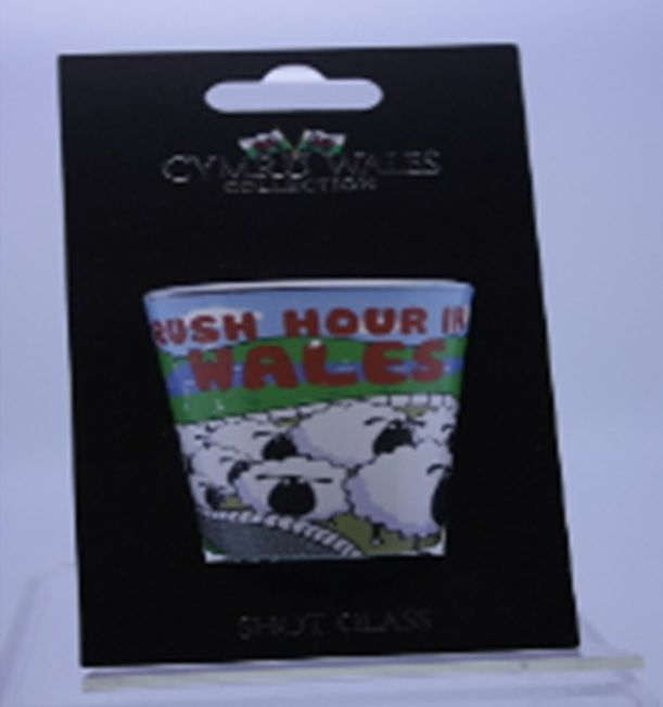Shot Glass: Wales Rush Hour