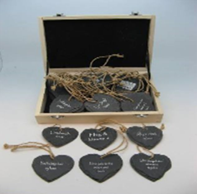 Charm: Welsh Slate Heart