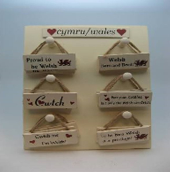 Charm: Welsh Sayings Plaque, Mini
